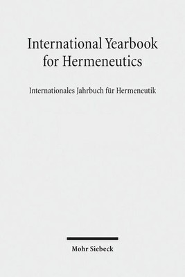 titel des international yearbook of hermeneutics