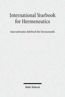 titel des international yearbook of hermeneutics